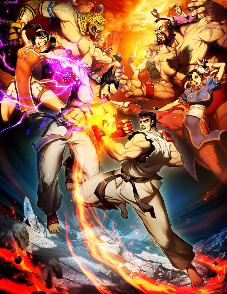 Street Fighter Series Video Game Armada