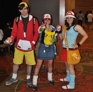 These costumes were made (I think) by 'Angela' during the AKON 19 & AKON 21 in Dallas, Texas. Which includes girl-ash, and depending who you talk to, ash never had any Pokeballs.