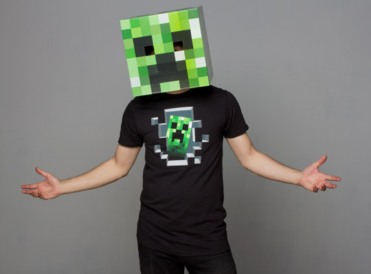 Minecraft Villager Head Costume Gameroween 2013 – Vi...