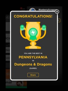 Bam! D&D champ of PA. What awards can you win?